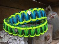 Halsbänder_Biothane_neongelb-grün